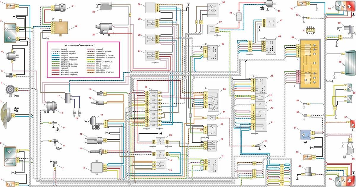 Основная электрическая схема тепловоза.  Электрические схемы.